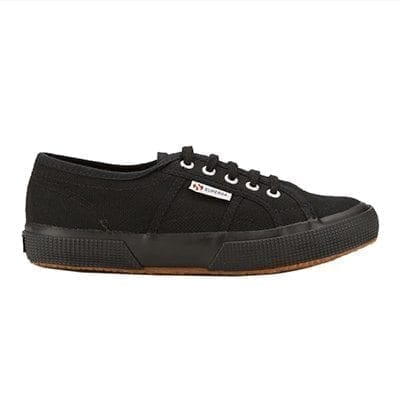 2750 Superga jcot black lace up